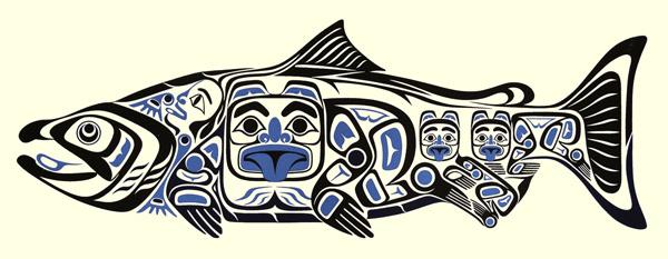 Supernaturalsalmonii on Haida Indian Villages In Alaska