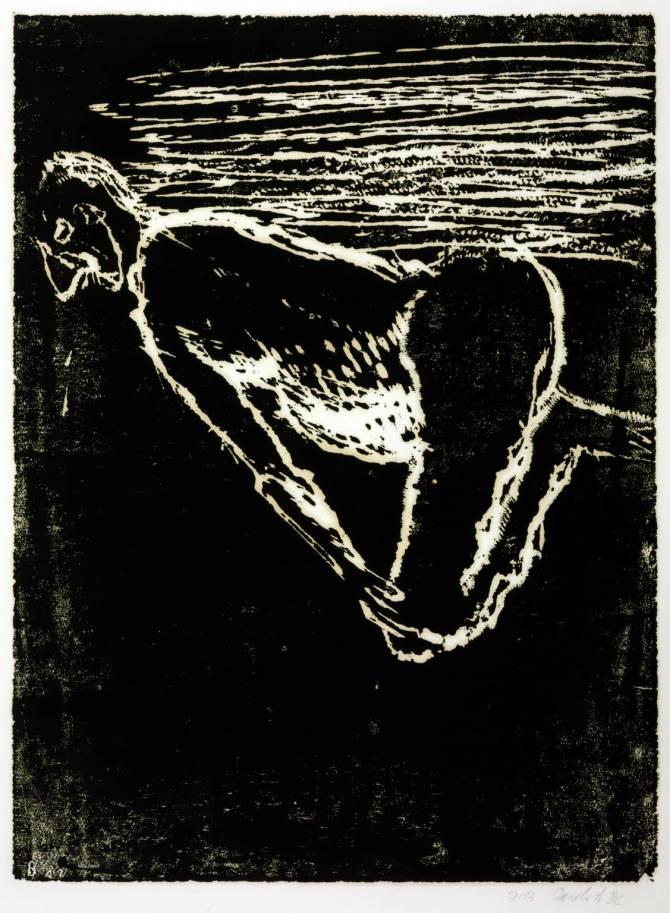 Man on the Beach 1982 by Georg Baselitz born 1938