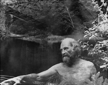 Photograph by Imogene Cunningham: Morris Graves at the Lake.