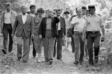 03 Jun 1983, Soustons, France, France --- French President Francois Mitterrand during the official visit of Helmut Schmidt in Latche. --- Image by © Gerard Rancinan/Sygma/Corbis